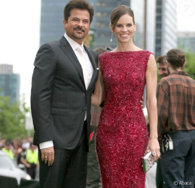 Anil Kapoor et Hilary Swank le 25 juin 2011 à Toronto pour l'International Indian Film Awards