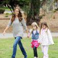 Denise Richards et ses filles Sam et Lola en juin 2011 à Los Angeles