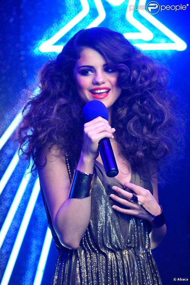 Selena Gomez, sur le tournage de son clip I love you like a love song, en mai 2011.