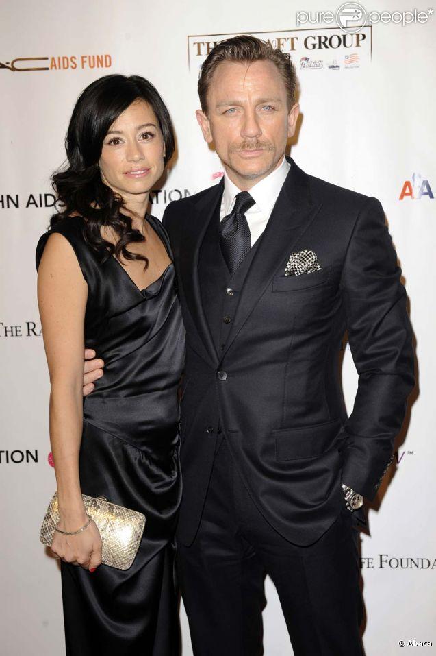Daniel Craig et Satsuki Mitchell, son ancienne fiancée, à New York, le 16 novembre 2009.