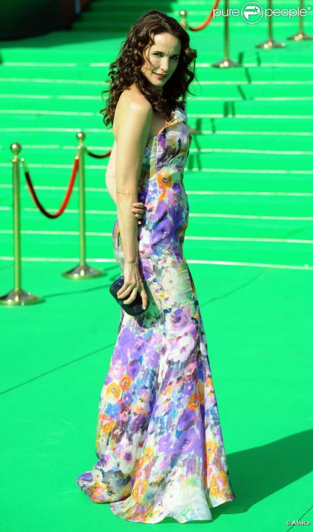 Andie MacDowell a fait une apparition surprise lors du 33ème festival du film international de Moscou, le 3 juillet 2011
