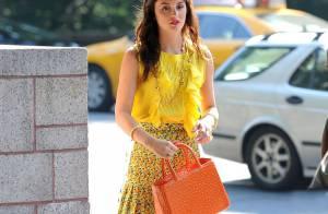 Leighton Meester : Dingue de travail, elle soigne toujours son look