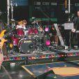 Roger Taylor, batteur de de Duran Duran, en concert avec le groupe en octobre 2004 à New York