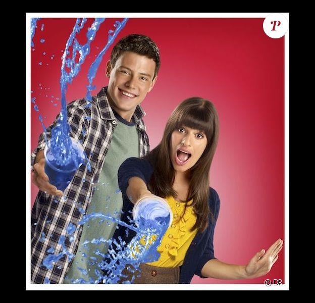 Cory Monteith et Lea Michele dans Glee.