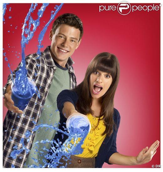 Cory Monteith et Lea Michele dans  Glee .