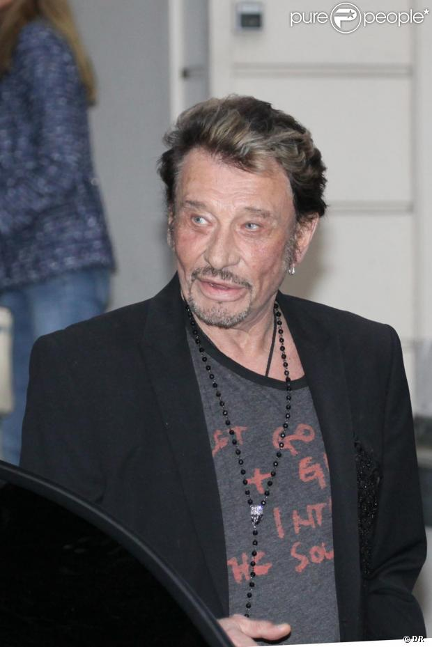 Johnny Hallyday à Paris fin mai 2011