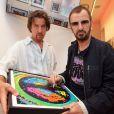 Ringo Starr a inauguré l'exposition de ses dessins,  The art of Ringo Starr , le 17 juillet 2011, à Vienne.