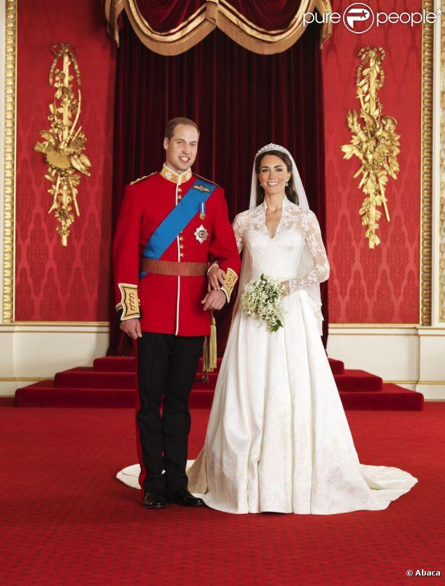Kate Middleton et le prince William le jour de leur mariage, le 29 avril  2011
