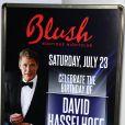 David Hasselhoff et sa chérie Hayley Roberts pour l'anniversaire de l'acteur au Wynn à Las Vegas le 23 juillet 2011