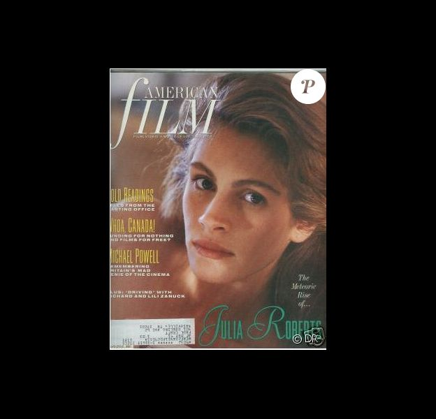 La Pretty Woman Julia Roberts en couverture du magazine American Film. Juillet 1990.