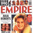 C'est une jeune Julia Roberts qui posait en couverture du magazine britannique  Empire . Décembre 1990.