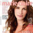 La très glamour Julia Roberts en couverture du  Marie Claire  brésilien d'octobre 2010.