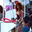 Rihanna en vacances à La Barbade, le 6 août 2011.