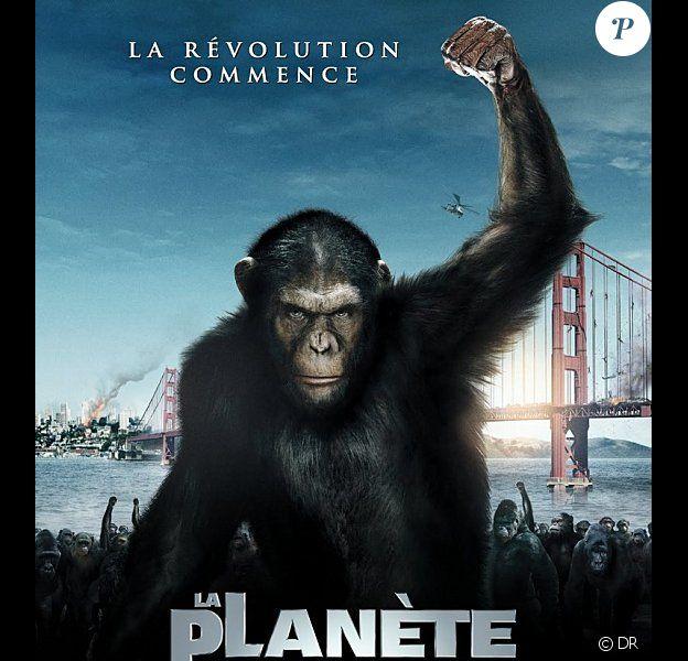 L'affiche du film La Planète des singes - les origines