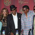 Katherine, LaToya, Tito, Marlon et Jackie Jackson annonce la tenue du concert hommage à Michael Jackson, à Beverly Hills, le 24 juillet 2011.