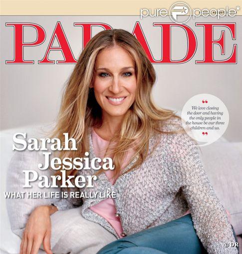 Sarah Jessica Parker en couverture de la revue américaine Parade - août 2011