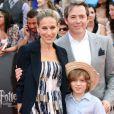 Sarah Jessica Parker et Matthew Broderick avec leur fils aîné James Wilkie à New York en juillet 2011