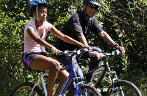 Barack Obama : Balade sportive en famille avant son grand oral