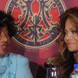 Katherine et Latoya Jackson à la conférence de presse pour annoncer le concert Michael Forever, à Beverly Hills, le 25 juillet 2011.