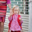 Le prince Philippe et la princesse Mathilde de Belgique ont emmené leurs quatre enfants, les princes Gabriel et Emmanuel ainsi que les princesses Elisabeth et Eléonore pour leur rentrée scolaire au Sinty-Jan-Berchmanscollege à Bruxelles, le 1e septembre 2011