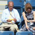 Mirka Federer est venue encourager son mari Roger avec ses jumelles lors du second tour de l'US Open le 2 septembre.