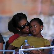 US Open : Michelle Obama tendre avec sa fille Sasha et malmenée par Serena