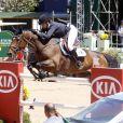 Athina Onassis participe à l'Athina Onassis Horse Show, le 4 septembre, à Rio de Janeiro.