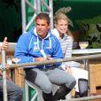 Athina Onassis et son époux Doda au centre équestre de Rio de Janeiro, le 3 septembre 2011.
