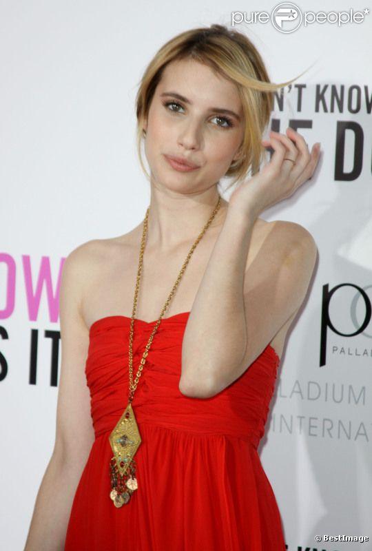 Emma Roberts lors de l'avant-première à New York le 12 septembre 2011 du film Mais comment font les femmes ?
