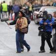 L'actrice Halle Berry tourne une scène de  Cloud Atlas  le 15 septembre 2011 à Glasgow