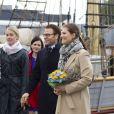 La princesse Victoria de Suède, enceinte et son époux le prince Daniel en visite à Turku, capital de la culture 2011, en Finlande, le 19 septembre 2011