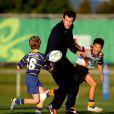 Damien Traille a disputé un petit match contre de jeunes enfants néo-zélandais le 20 septembre 2011 au Takapuna Rugby Club en Nouvelle Zélande