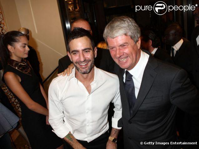 Marc Jacobs et Yves Carcelle à Milan lors de l'ouverture de la boutique Louis Vuitton le 21 septembre 2011
