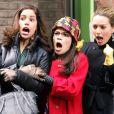 Ana Ortiz avec America Ferrera et Becki Newton sur le tournage d'Ugly Betty en mars 2010