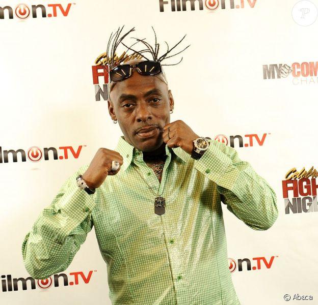 Coolio lors de la conférence de presse du championnat de boxe des célébrités le 26 septembre à Los Angeles
