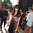 Leigh Lezark à son arrivée au défilé Dior le 30 septembre 2011 au musée Rodin à Paris