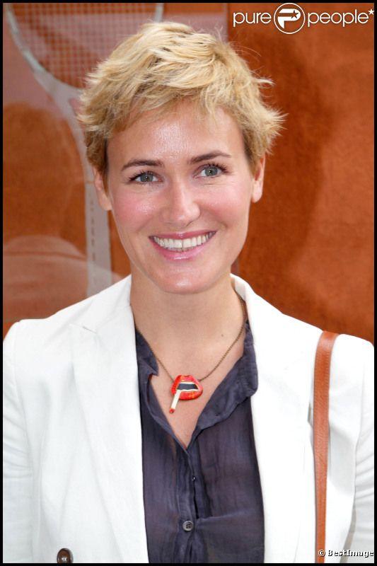 Judith Godrèche à Roland Garros en juin 2011