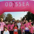 Le départ lors de la course ODYSSEA pour la lutte contre le cancer du sein, à Vincennes, le 2 octobre 2011