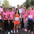 Satya Oblet, Reem Kherici et Claudia Tagbo lors de la course ODYSSEA pour la lutte contre le cancer du sein, à Vincennes, le 2 octobre 2011