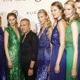 Elie Saab présente sa collection de prêt-à-porter printemps-été 2012 lors de la Fashion Week parisienne le 5 octobre 2011