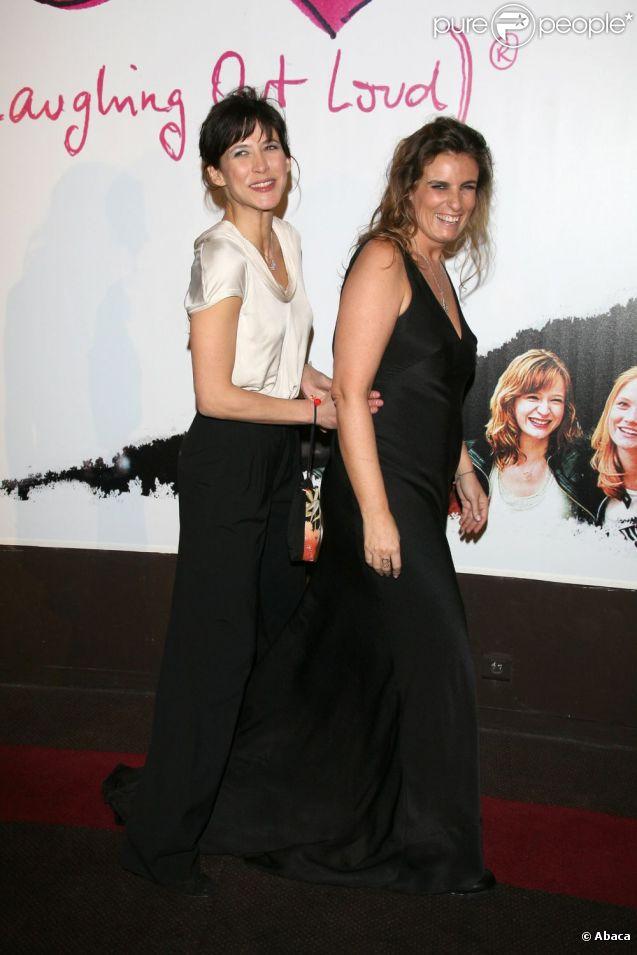 Lisa Azuelos et Sophie Marceau en février 2009.