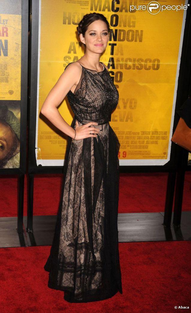 Marion Cotillard lors de l'avant-première du film Contagion en septembre 2011 à New York