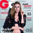 Sensuelle en lingerie, Diane Kruger pose en couverture du GQ allemand de mars 2011.