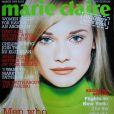 Le jeune mannequin Diane Kruger pose en Une du Marie Claire anglais en mars 1996.