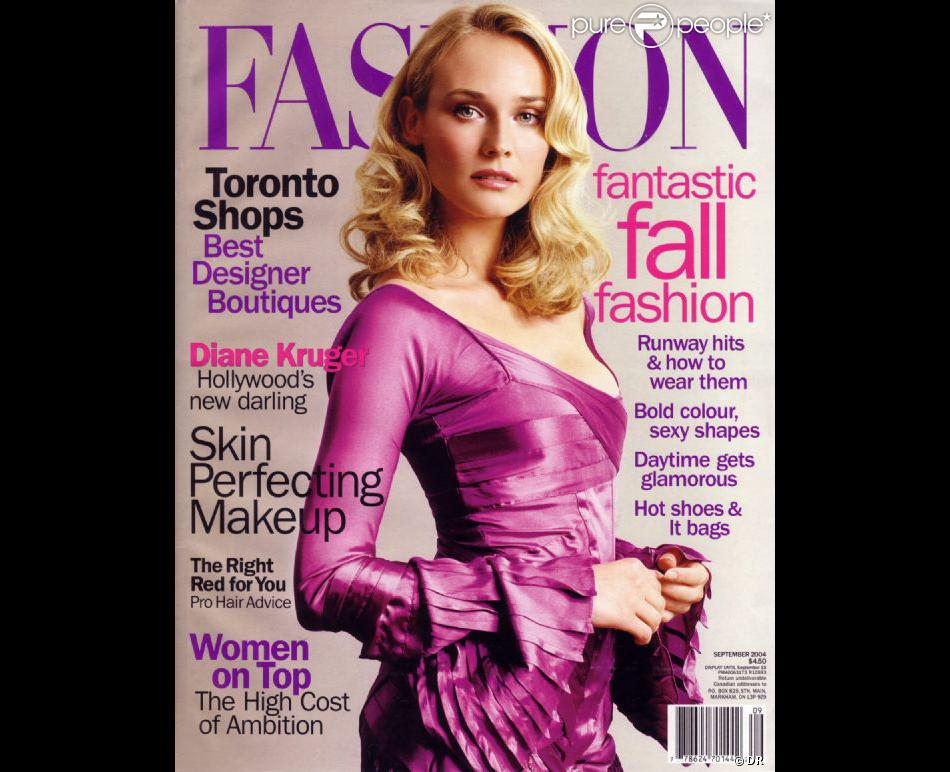 l 39 ic ne mode et beaut diane kruger en une du magazine canadien fashion septembre 2004. Black Bedroom Furniture Sets. Home Design Ideas