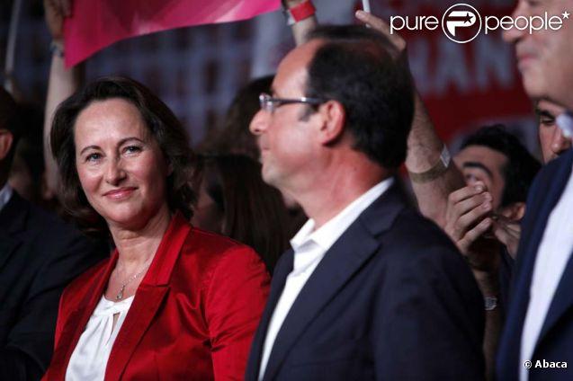 Ségolène Royal et François Hollande, Université d'été du Parti socialiste, à La Rochelle, le 28 août 2011.