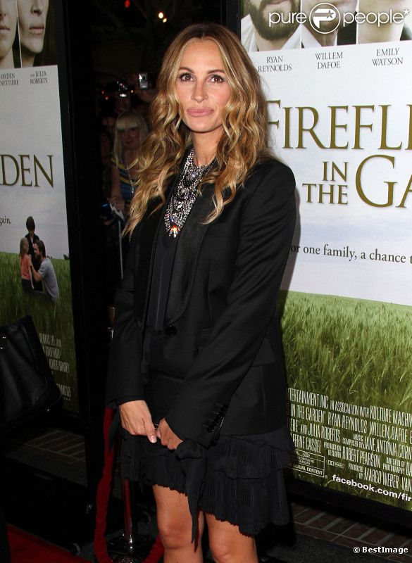 Julia Roberts lors de l'avant-première du film Fireflies in the Garden à Los Angeles le 12 octobre 2011