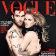 Adam Levine et sa compagne Anna V en couverture du Vogue russe