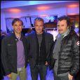 Paul Belmondo, David Brécourt et Alexandre Brasseur lors de la soirée d'inaguration de la boutique Look rue Saint-Honoré à Paris le 17 octobre 2011