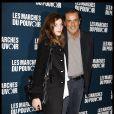 Christophe Barratier et Gwendoline à la projection des Marches du pouvoir, le 18 octobre 2011.